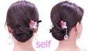 和装アップ髪型 セルフ ロープ編みシニヨンヘア Japanese yukata hairstyles shie's hair