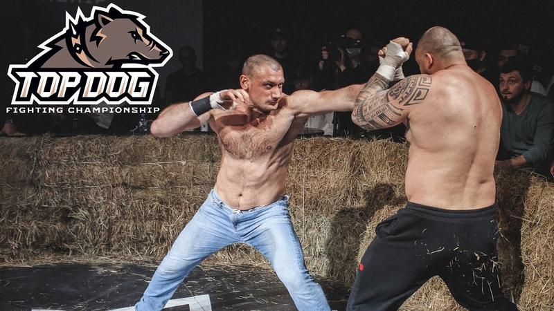 Автомат Гаджи vs Александр Калаш нокаут вечера бой на голых кулаках TDFC 3