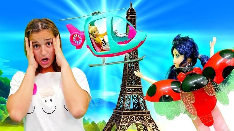 Uğur Böceği ile oyun videosu Marinette Chloe'yi kurtarıyor