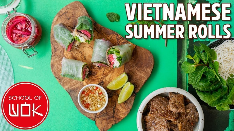 Light and Healthy Vietnamese Rice Paper Rolls Recipe | Wok Wednesdays