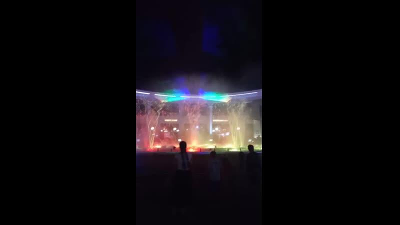 Кисловодск Лазерное представление фонтана