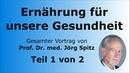 Ernährung für unsere Gesundheit Teil 1 2 Gesamter Vortrag von Prof Dr med Jörg Spitz