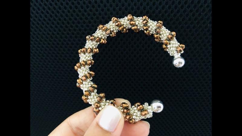 Tubular Peyote Bracelet DIY Beaded Bracelet Cellini Spiral Beaded Bracelet