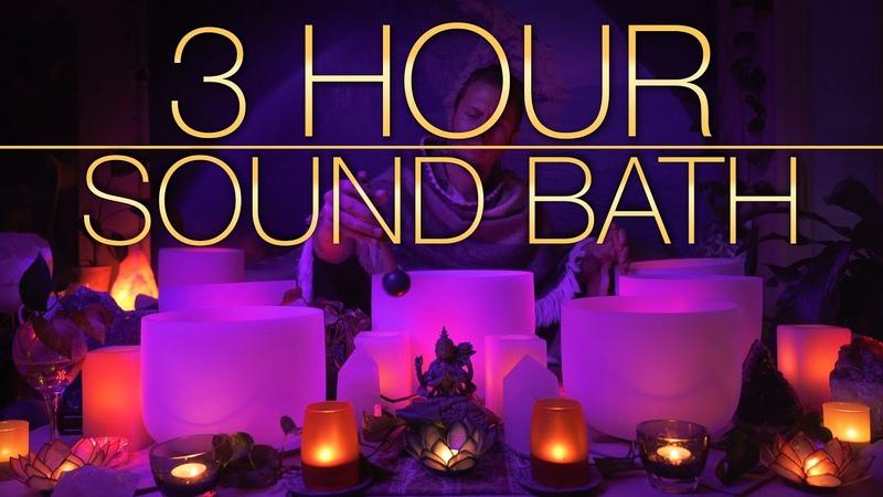 432Hz 3 Hour Crystal Singing Bowl Healing Sound Bath 4K No Talking Singing Bowls Sound Bath