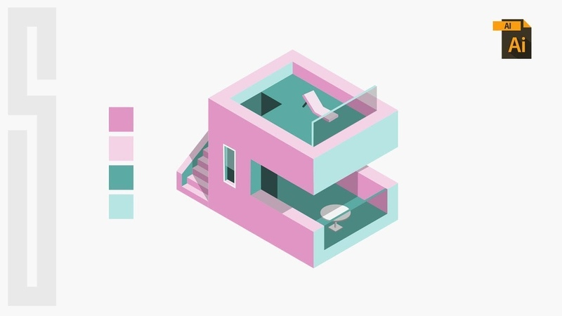 Learn Skills For QUALITY ISOMETRIC DESIGN - Illustrator Isometric House Tutorial