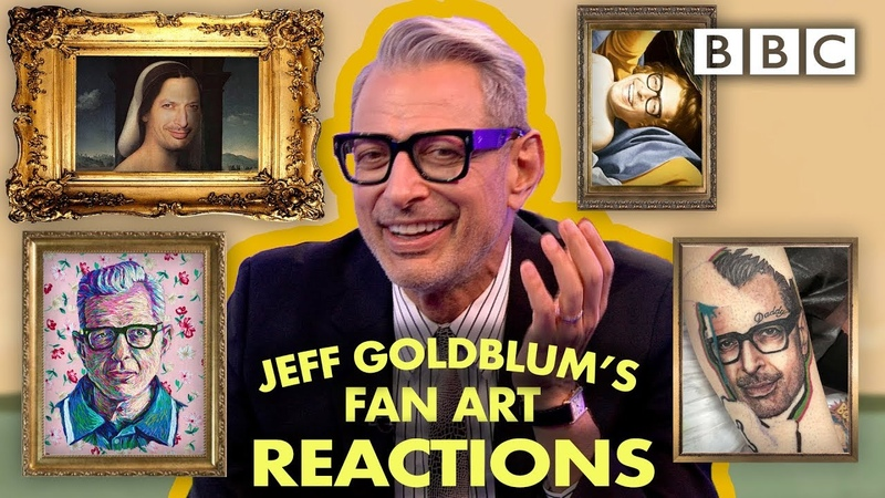Jeff Goldblum reacts to fan art and tattoos! | The One Show - BBC