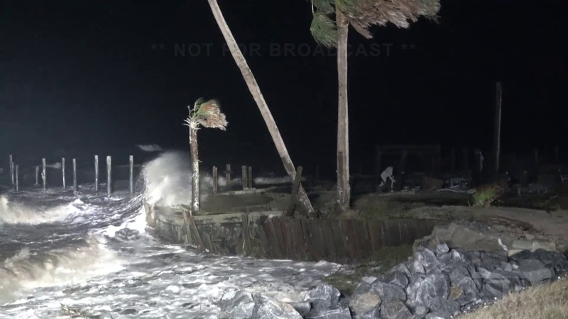 10-19-2019 Eastpoint, Fl Tropical Storm Nestor storm surge begins making impacts along Fl coast
