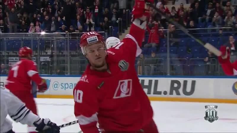 КХЛ Регулярный чемпионат Сезон 2017 18 Спартак Москва Адмирал Владивосток 7 6 ОТ