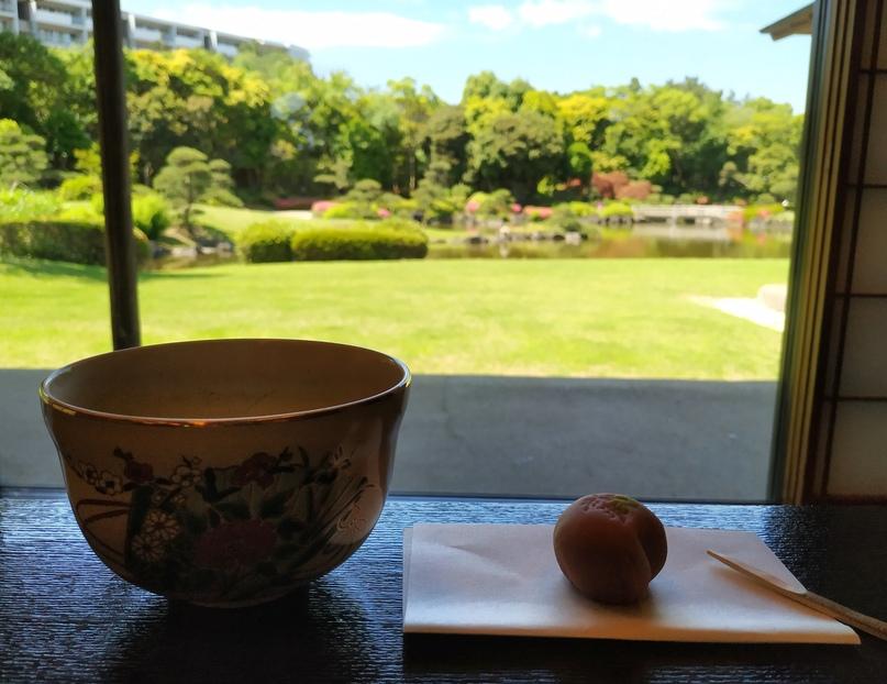 Чайная церемония в парке Макухари