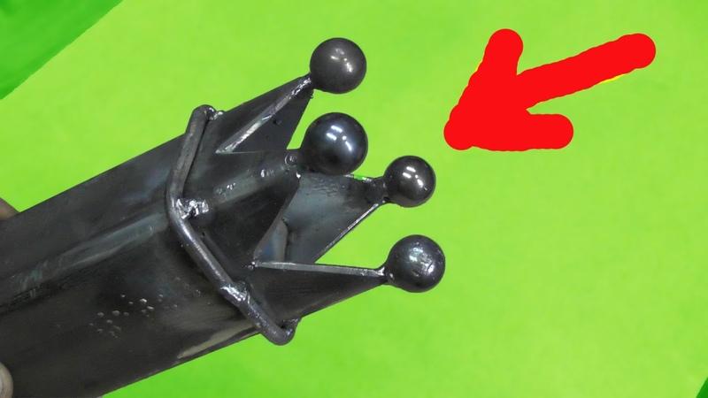СЕКРЕТ изготовления КОРОЛЕВСКОЙ заглушки на профильную трубу СВОИМИ РУКАМИ Royal metal crown DIY