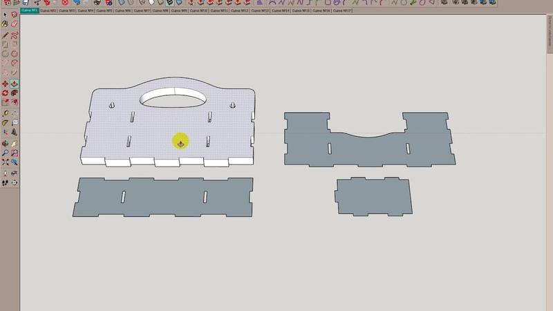 Экспорт макета из Corel в SketchUp через dxf формат