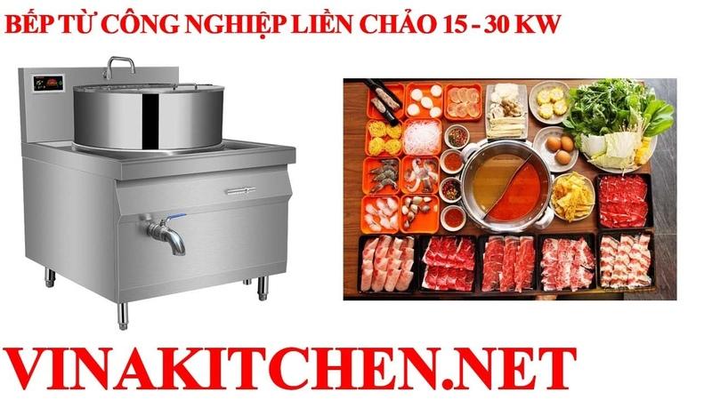 Lắp đặt và bàn giao bếp từ công nghiệp 8Kw liền chảo cho khách hàng tại Phố Nối - Hưng Yên