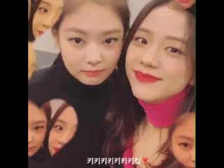jisoo abused the hell out of this ig filter that time she used it at every jennie moment possible