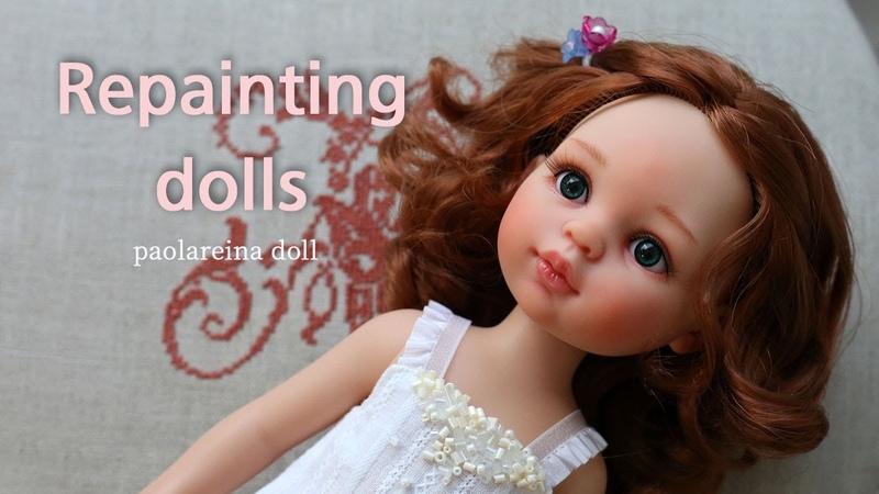 파올라레이나 인형 리페인팅 메이크업 Repainting dolls doll face up паоларейна