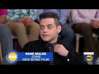 Meet the new villain from Bond 25 - Rami Malek live on GMA!