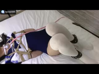 Chinese cute girl teasing BONDAGE Cute girl shibari cosplay torture play Ero Solo PornoTeen Webcam Porn Amateur Solo Petite