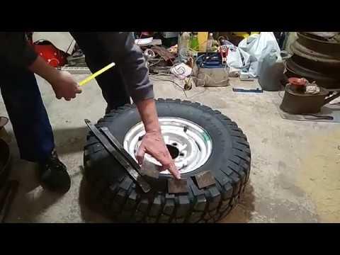 Как самому разбортировать колесо за пять минут