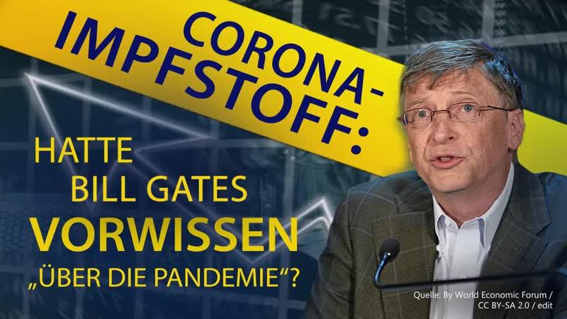 """Corona Impfstoff Hatte Bill Gates Vorwissen über die """"Pandemie 21 03 2020 15915"""