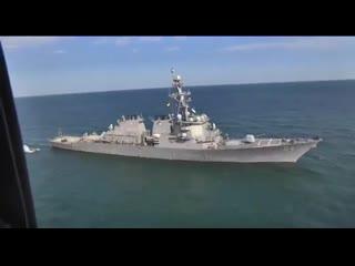 Российские военные наблюдают за ходом учений НАТО в Черном море