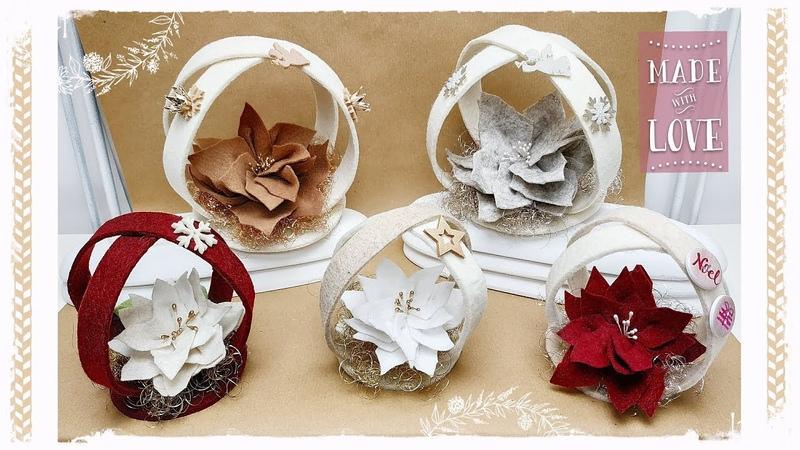Decorazione natalizia Girella facile senza cucire