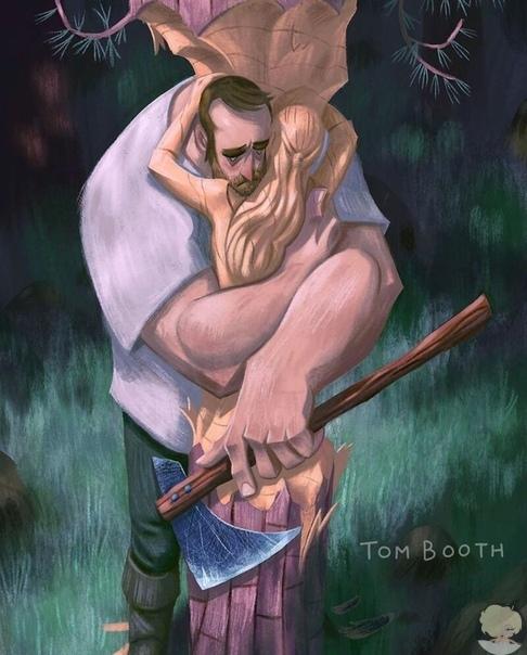 Художник нарисовал историю любви и смерти