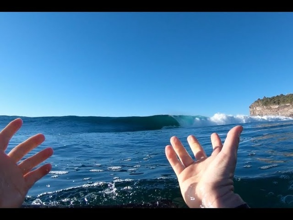 PERFECT and FUN WINTER SURF RAW BODYBOARDING POV