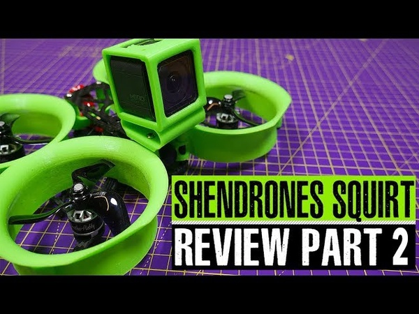 Обзор квадрокоптера ShenDrones Squirt V2 4K на английском языке от Whirly Bloke часть 2