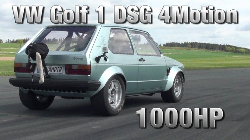 16Vampir VW Golf MK1 1000HP DSG 4Motion first test