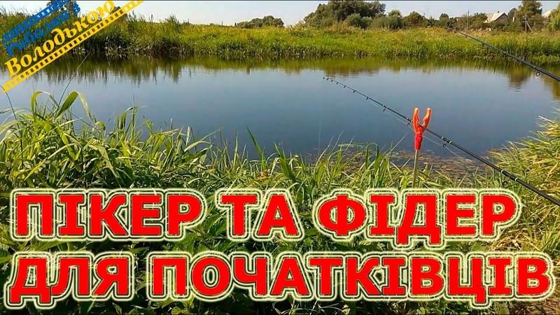 Ловля риби на пікер та фідер для початківців на малій річці