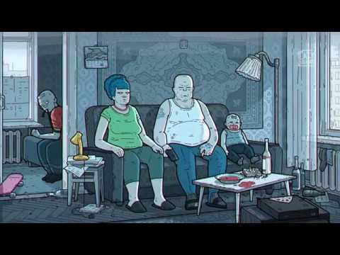 THE SIMPSONS Russian Art Film Version Симпсоны Артхаусная русская версия