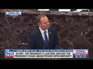 Adam schiff  if trump isnt removed he could offer alaska to the russians in exchange