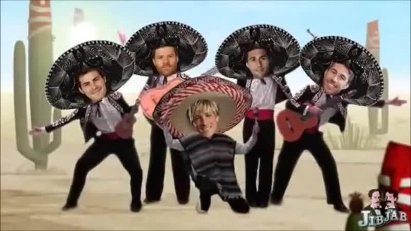 Feliz Navidad with Sergio Ramos, Fernando Torres, Iker Casillas, Xabi Alonso and Arbeloa