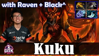 Kuku - Legion Commander Offlane | with Raven (OD) + Black^ (Void) | Dota 2 Pro MMR Gameplay
