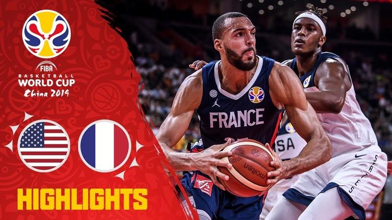 USA v France - Highlights - Quarter-Finals - FIBA Basketball World Cup 2019. Кубок Чемпионат мира. 14 финала. Обзор. США - Франция