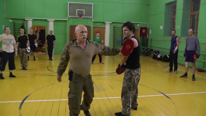Волнохлыстовые уличные удары на лапах В Н Крючков Whiplash punches in self defense V Kryuchkov