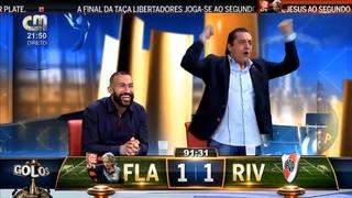 A narração portuguesa da reviravolta do Flamengo na final da Taça Libertadores (CMTV)