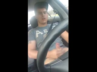 Car ride jerk off session