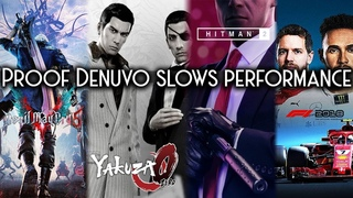 Proof games perform slower with Denuvo | Devil May Cry 5, Hitman 2, Yakuza 0, F1 2018