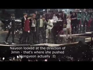 Jeongmin ~ 161202 mama mnet asia music awards ending