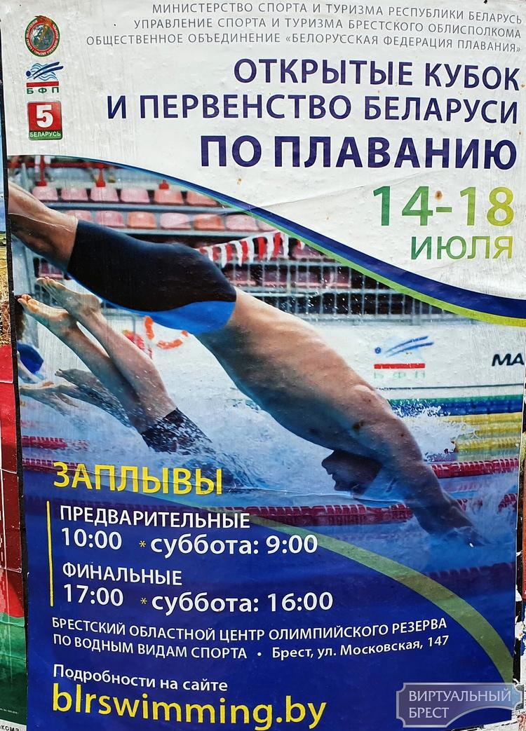 Открытый Кубок и первенство Беларуси по плаванию стартуют в Бресте