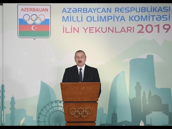 Prezident İlham Əliyev 2019 cu ilin idman yekunlarına həsr olunan mərasimdə iştirak edib