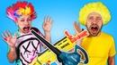 Видео приколы - Нерферы против Воздуходувки! - Бластеры Нерф и игры для детей.
