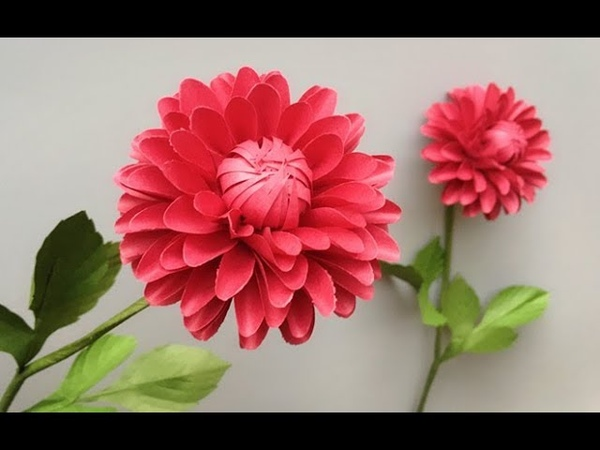 ABC TV | How To Make Dahlia Paper Flower With Shape Punch - Craft Tutorial