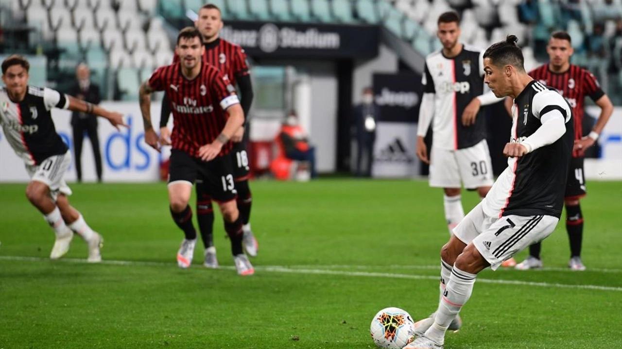 Криштиану Роналду не забил пенальти. Ювентус - Милан, 1/2 Кубка Италии 2020