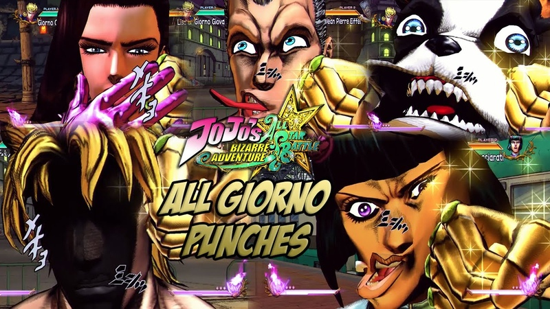 JoJo's Bizarre Adventure: All Star Battle - Giorno's Gold Experience Punches All Characters (DLC)