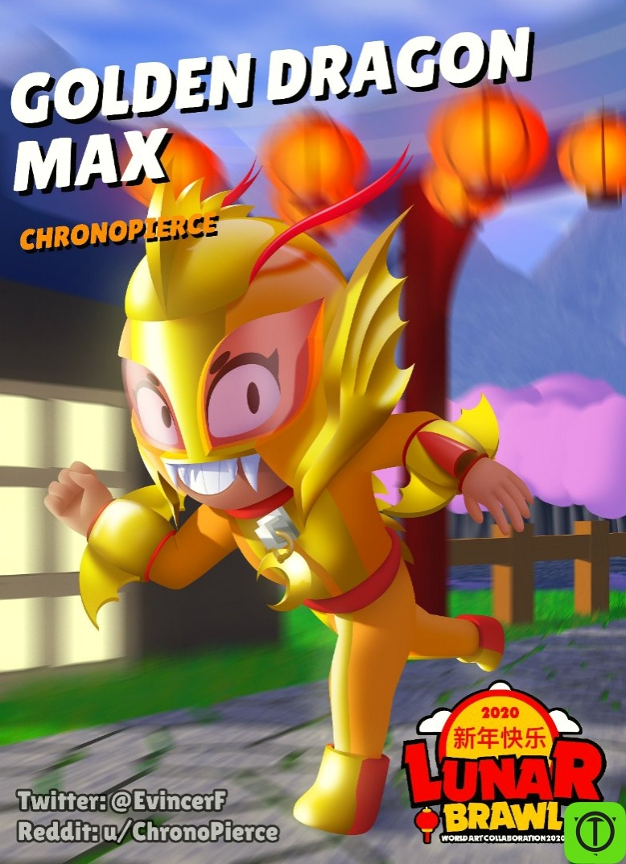 #Концепт Концепт скина на Макс - Золотой Дракон