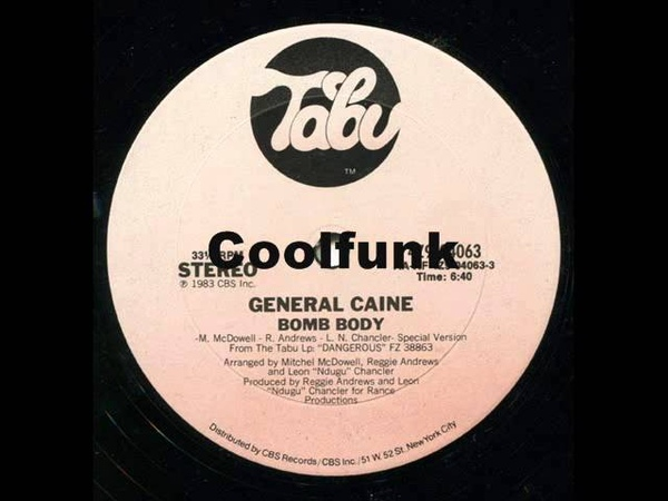 General Caine Bomb Body 12 Electro Funk 1983