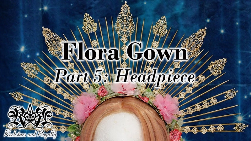 Spiked Skewer Halo Headpiece Tutorial Flora Gown Part 5