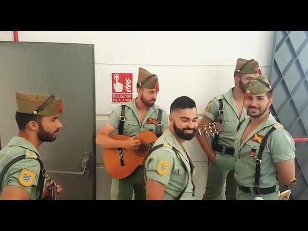 Ensayo previo al concierto en huelva cantada por legionarios Cancion 20 de septiembre