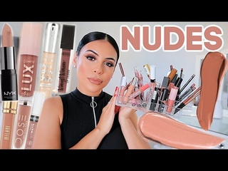 My Favorite NUDE Lip Colors: Drugstore & High End!